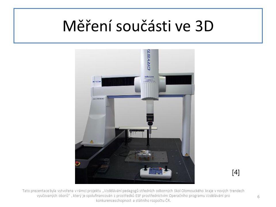 Měření součásti ve 3D [4]